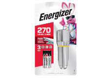 package of Energizer Vision HD 3AAA Performance Metal LED Flashlight with 3 Batteries