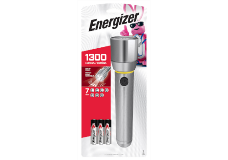 Package of Energizer Vision HD 6AA Performance Metal Flashlight with 3 Batteries