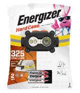 Package of Energizer Hard Case Professional Rugged Headlamp