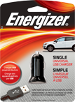 package of energizer phone charger for car