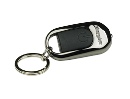 black and silver energizer keychain flashlight