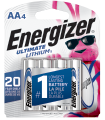 package with 4 energizer ultimate lithium batteries