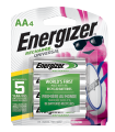 package with four energizer recharge universal aa batteries