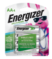 package with four energizer recharge power plus aa batteries