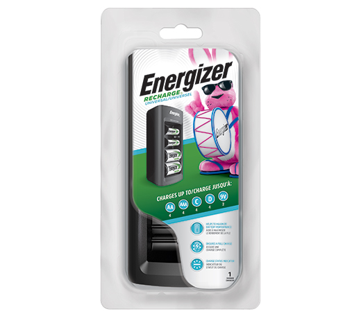 package of energizer recharge universal battery charger