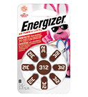 new package of energizer hearing aid size 312 with eight