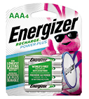 package with four energizer recharge power plus aaa batteries