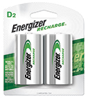 package with two energizer recharge d batteries