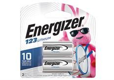 package of two energizer 123 lithium battery