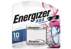 package of energizer 223 lithium battery
