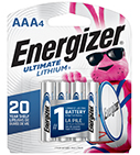 package with 4 energizer ultimate lithium aaa batteries