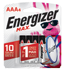 package with four energizer max aaa batteries