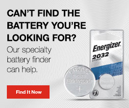 package of energizer cr2032 lithium battery in a banner with text and find it now button