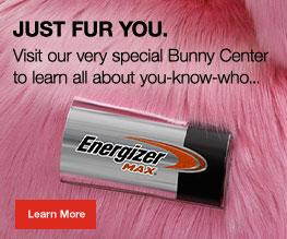 energizer max battery in a banner with pink background and learn more button