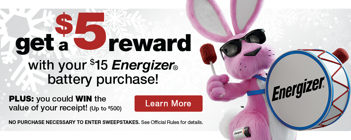 Energizer Holiday offer