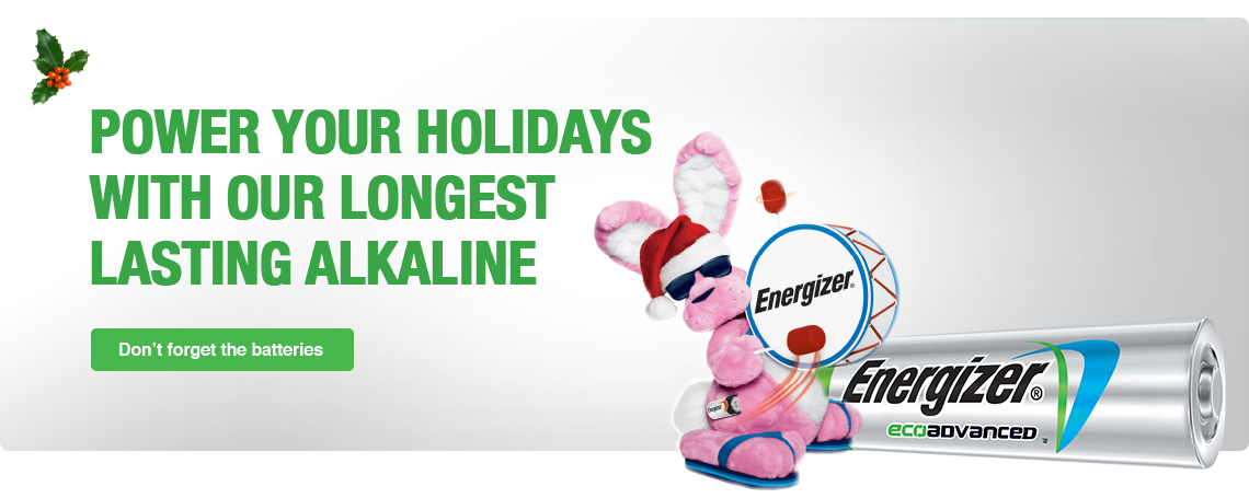 Power Your Holidays with Energizer EcoAdvanced